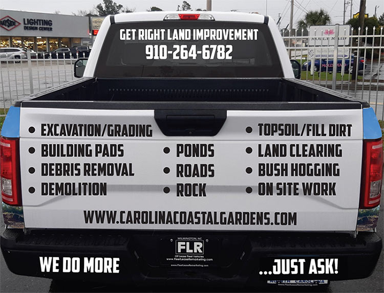 tractor and landscaping construction work in topsail